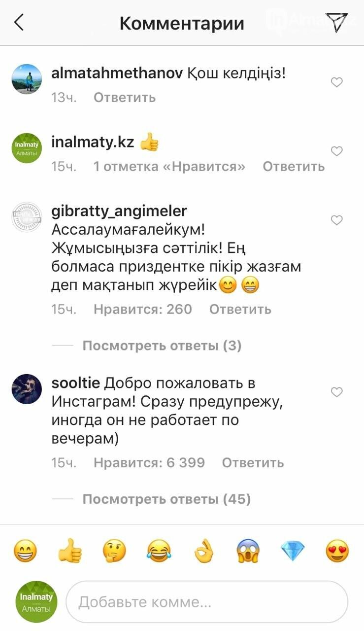 Как встретили Токаева в Instagram, фото-5