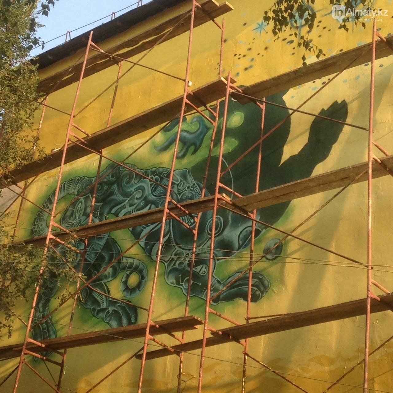 «Рисовать на фасаде бывает страшно»: художник Мухит Дулу о работе на фестивале муралов, фото-6