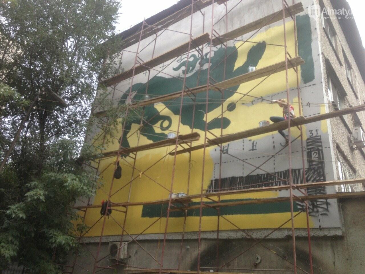 «Рисовать на фасаде бывает страшно»: художник Мухит Дулу о работе на фестивале муралов, фото-7