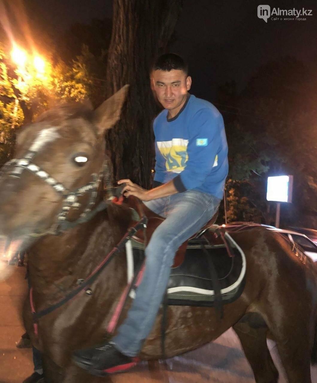 """Истощённых лошадей заметили за """"работой"""" у ночного клуба в Алматы , фото-1"""
