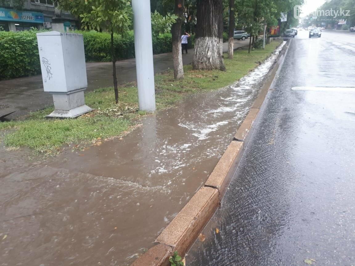 Алматы вновь затопило после дождя (фото), фото-1