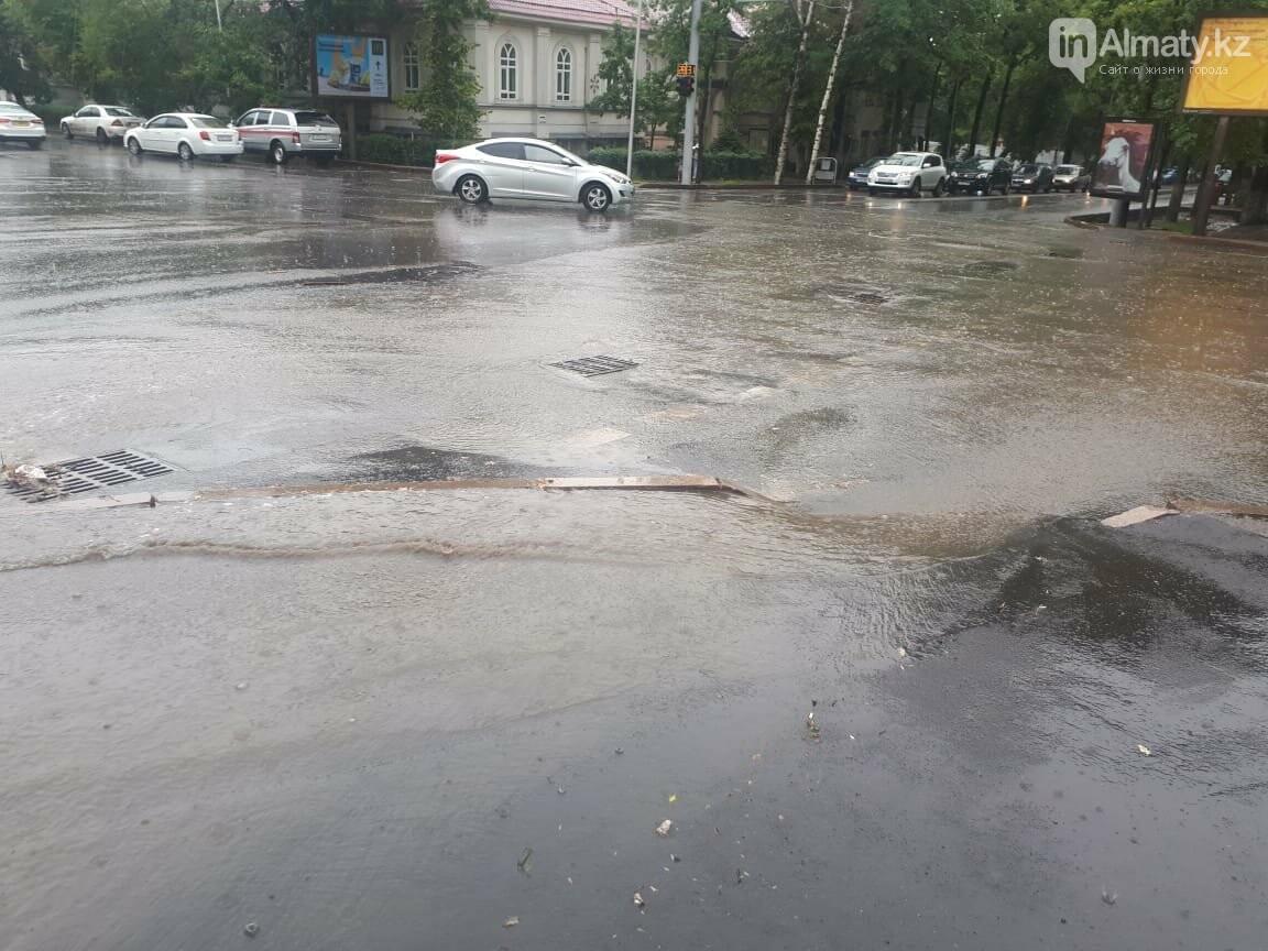 Алматы вновь затопило после дождя (фото), фото-2