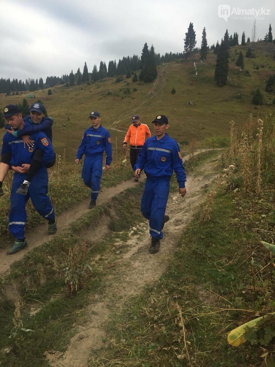 Туристок спасли в горах Алматы, фото-3