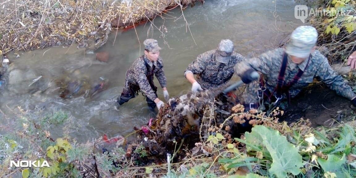 В Алматы спасатели расчистили русло реки Каргалы, фото-2