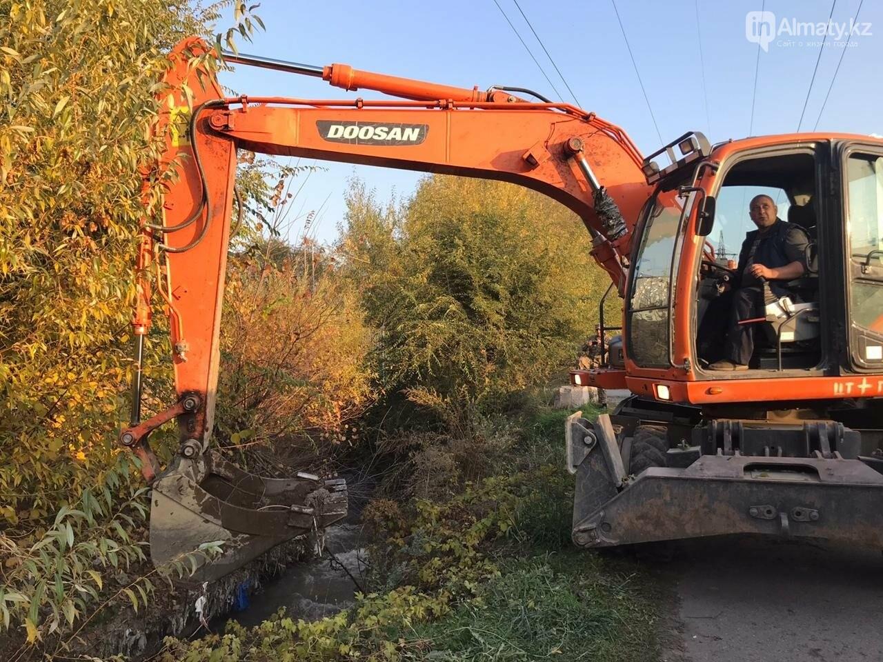 В Алматы спасатели расчистили русло реки Каргалы, фото-4