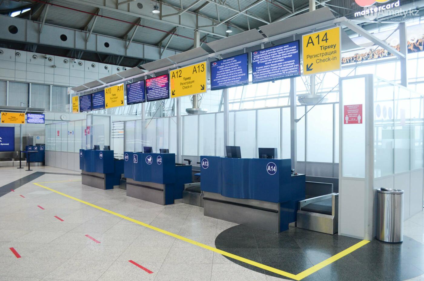 Как работает Международный аэропорт в Алматы в условиях карантина. Фото, фото-17