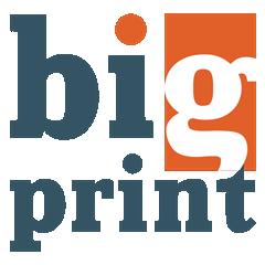 Логотип - BigPrint.kz (Биг Принт), широкоформатная печать баннеров, пленки, сетки, флагов