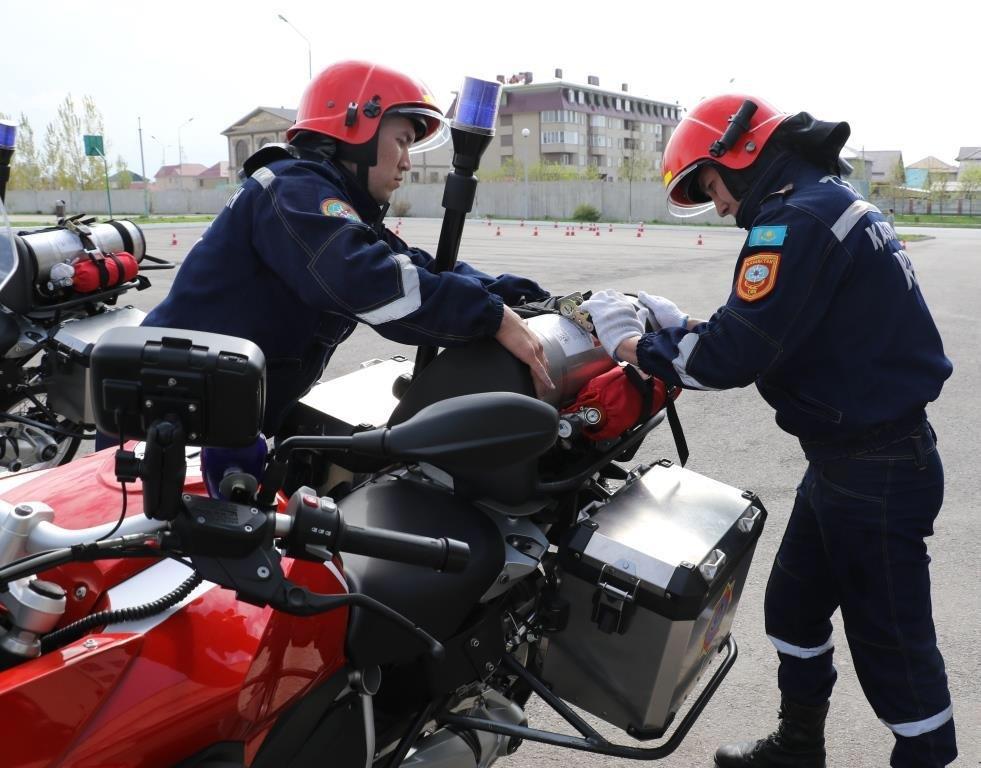 На дорогах Алматы начнут действовать пожарные-мотоциклисты (ФОТО), фото-1