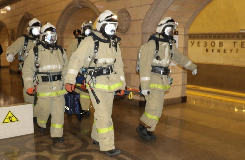 В Алматинском метрополитене потушили «пожар» (ФОТО), фото-6