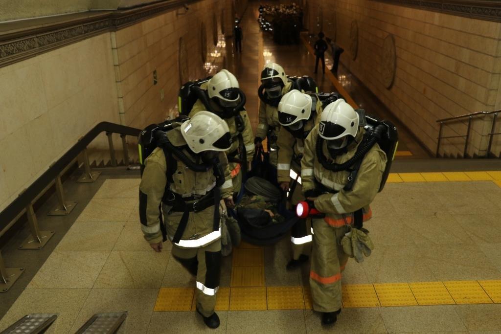В Алматинском метрополитене потушили «пожар» (ФОТО), фото-9