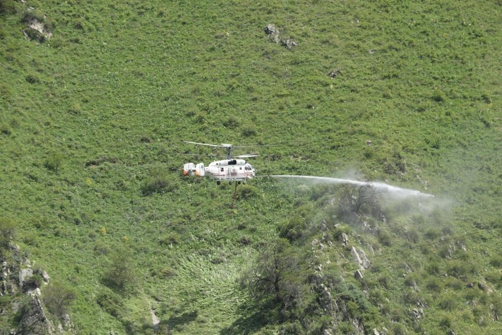 Спасатели потушили «лесной пожар» в Иле-Алатауском парке с помощью вертолетов, фото-2