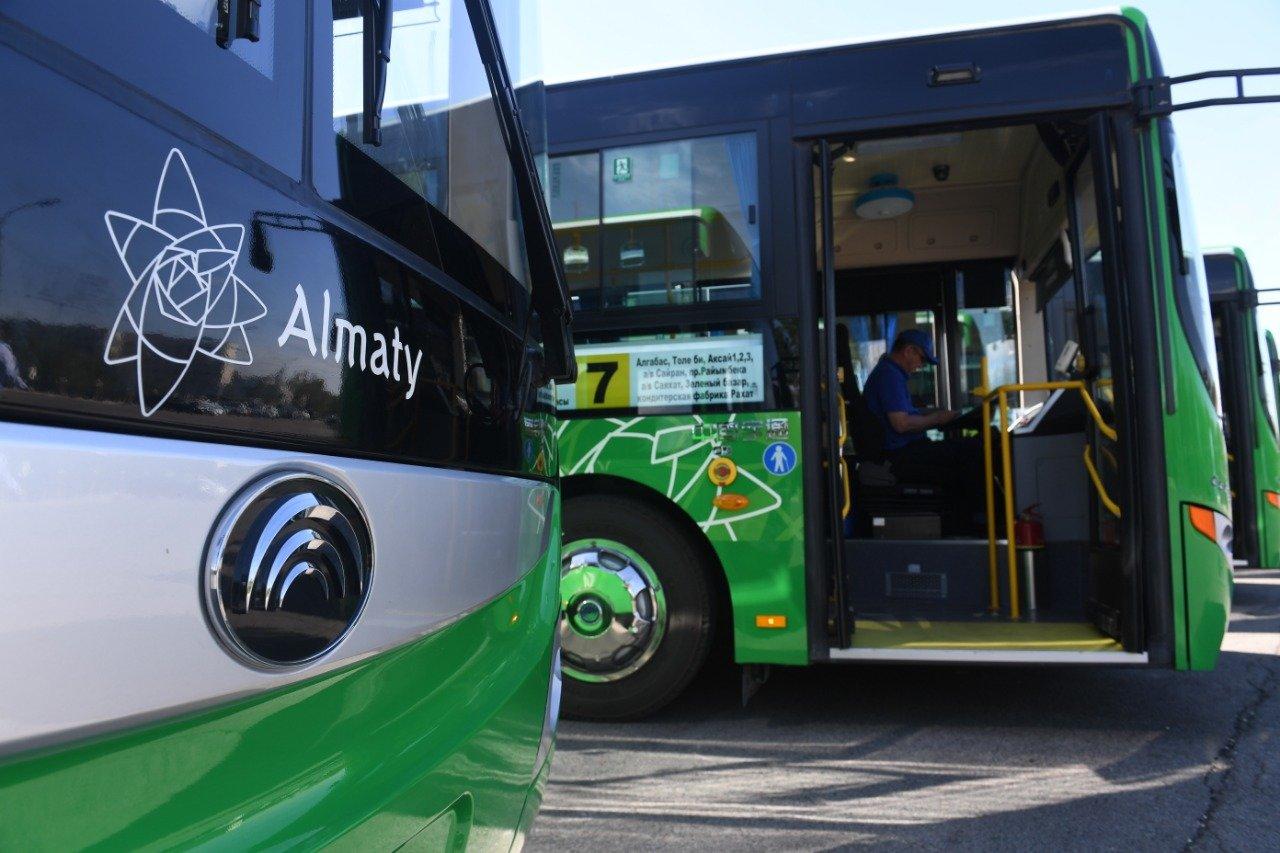 Новые автобусы вышли на маршрут №7 в Алматы, фото-1
