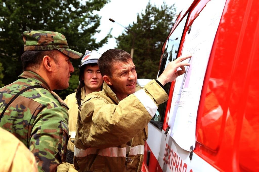 На Казахфильме «тушили» пожар (фото), фото-4