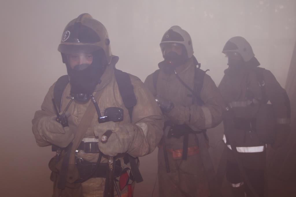На Казахфильме «тушили» пожар (фото), фото-1