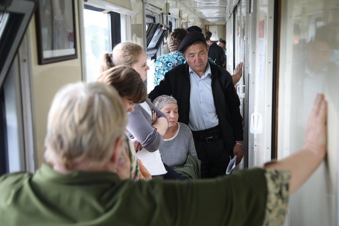 Медпоезд, стартовавший из Алматы, побывал на 49 отдаленных станциях, фото-6