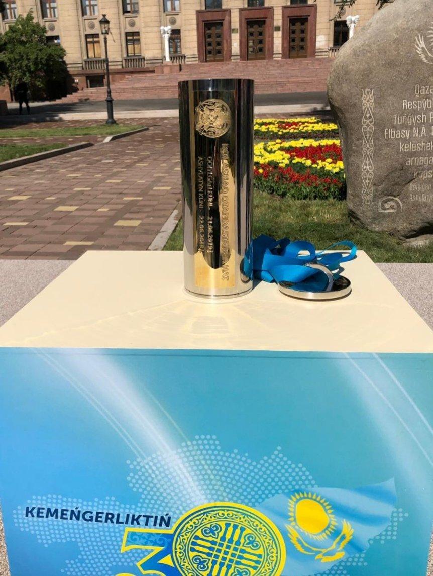 Елбасы заложил капсулу времени в Алматы, фото-3