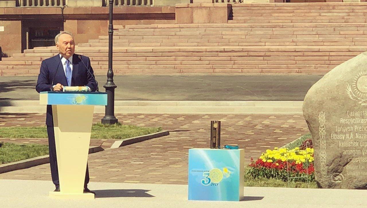 Елбасы заложил капсулу времени в Алматы, фото-1