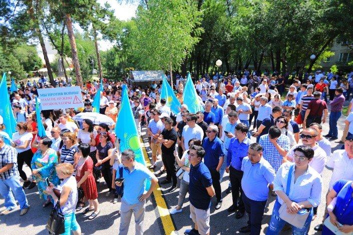 В Алматы прошел митинг против политических провокаций (ФОТО), фото-2
