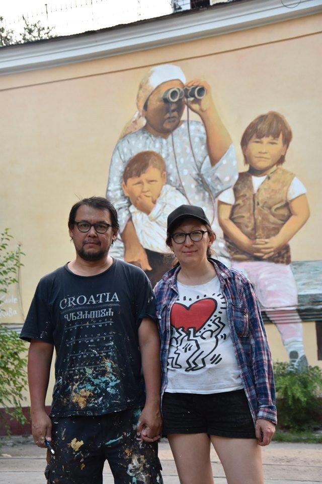 Мурал «Ожидание» по картине Сауле Сулейменовой появился в Алматы, фото-2