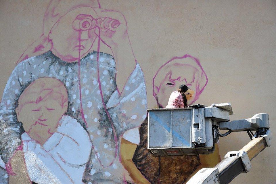 Мурал «Ожидание» по картине Сауле Сулейменовой появился в Алматы, фото-3