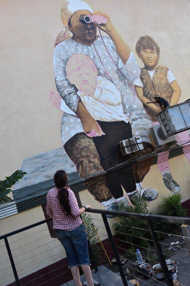 Мурал «Ожидание» по картине Сауле Сулейменовой появился в Алматы, фото-5
