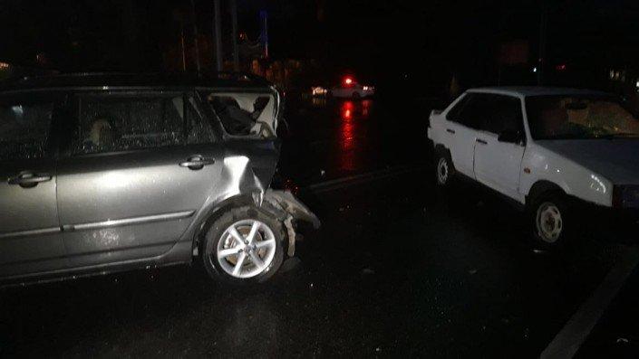Три машины столкнулись в Алматы во время грозы (ФОТО), фото-4