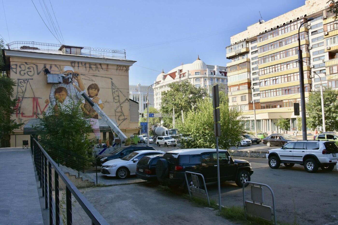 Мурал «Ожидание» дополнили уличным граффити (ФОТО), фото-4