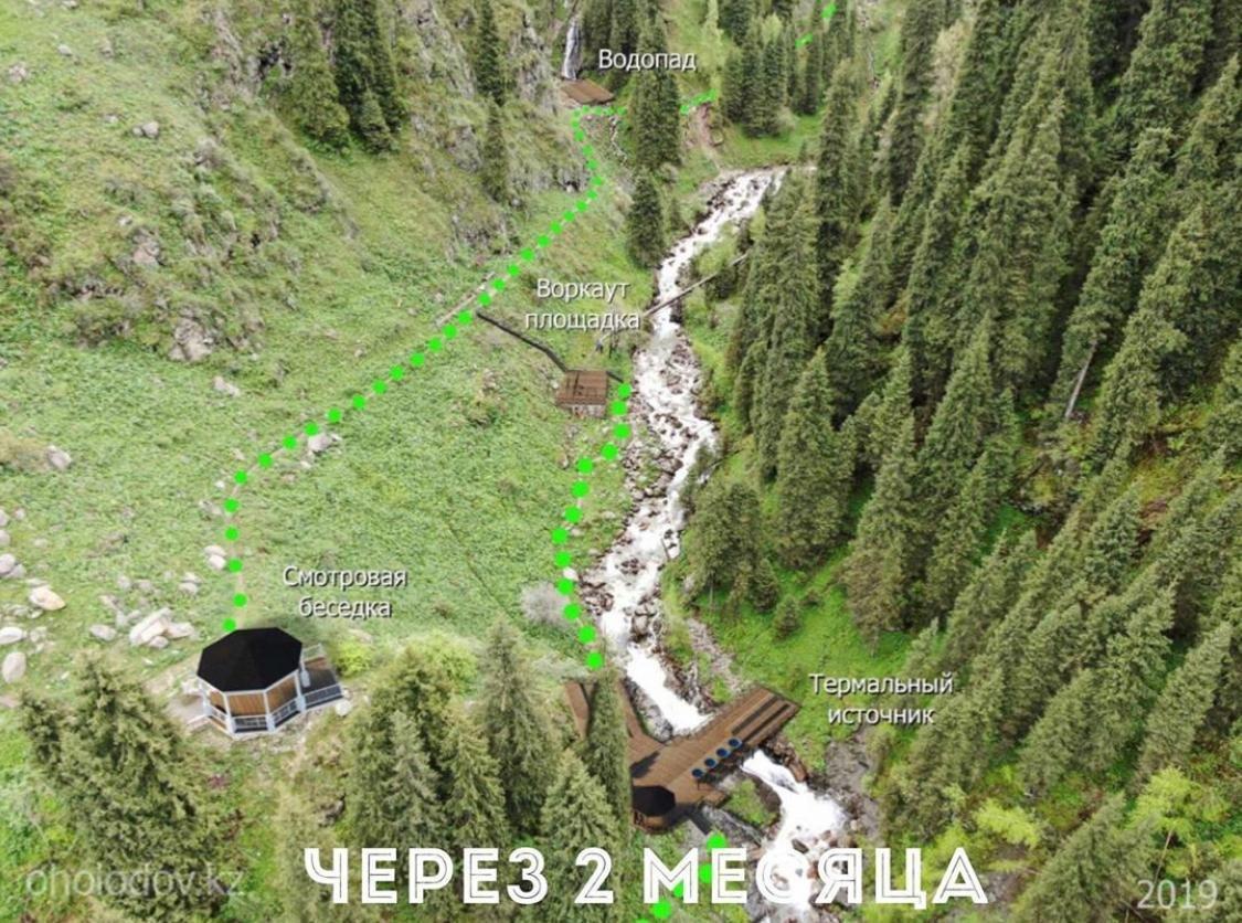 К термальному источнику в «Алма-Арасан» появится 3 новых моста, фото-1