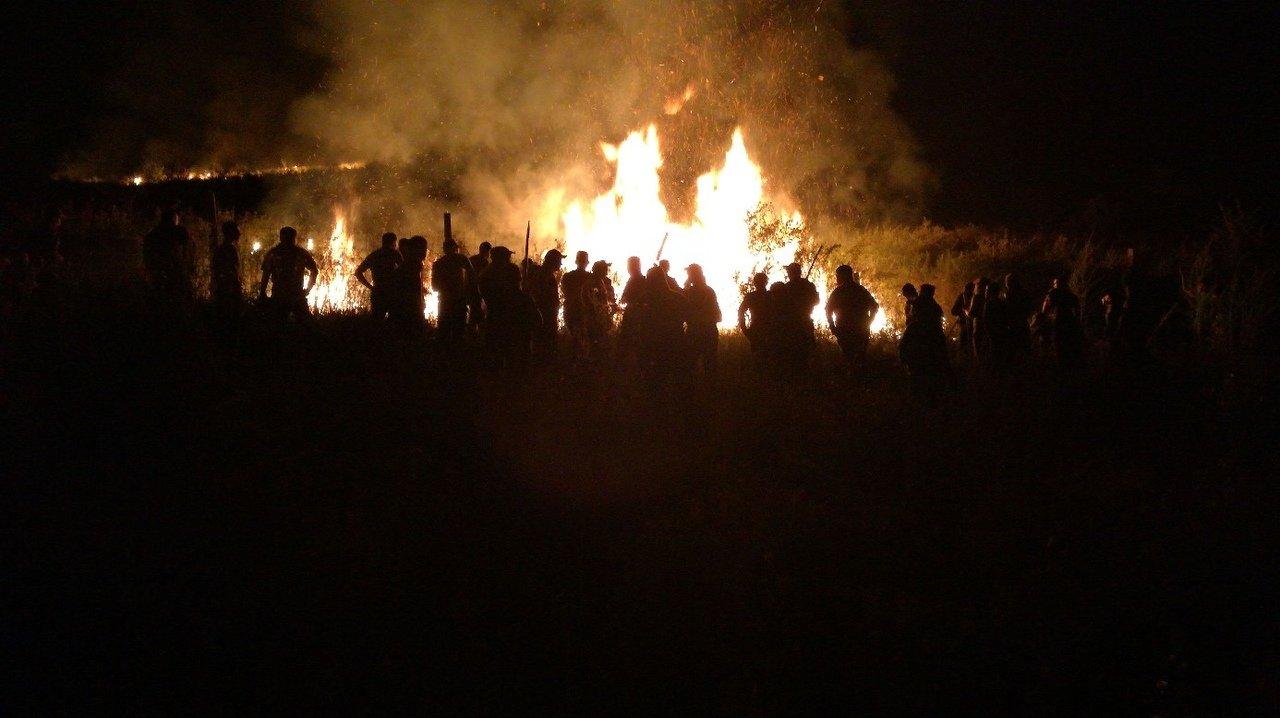 Сельчане вместе со спасателями потушили пожар в горах близ Алматы, фото-1
