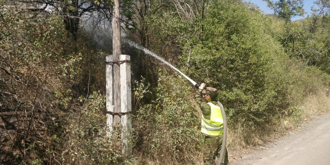 На Кок-Тобе снова тушат пожар, фото-1