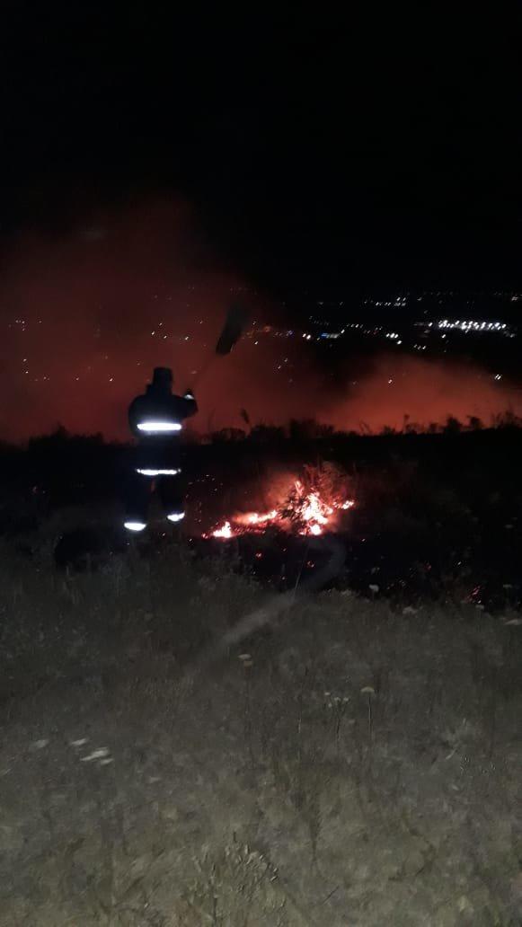 Крупное возгорание сухостоя произошло в селе Бесагаш близ Алматы, фото-3, Фото пресс-службы ДЧС