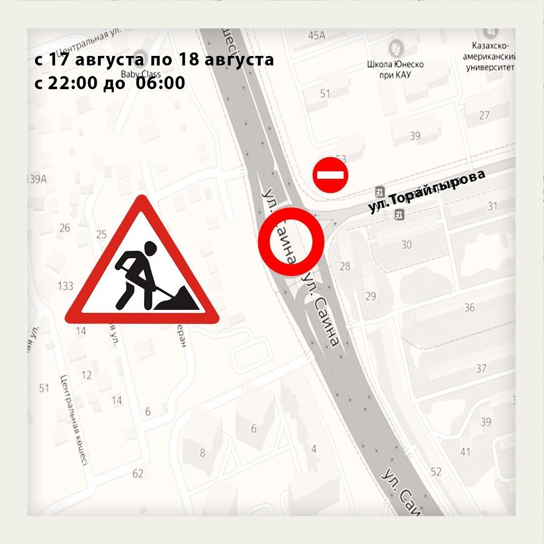 Участки двух улиц будут перекрыты в Алматы, фото-2
