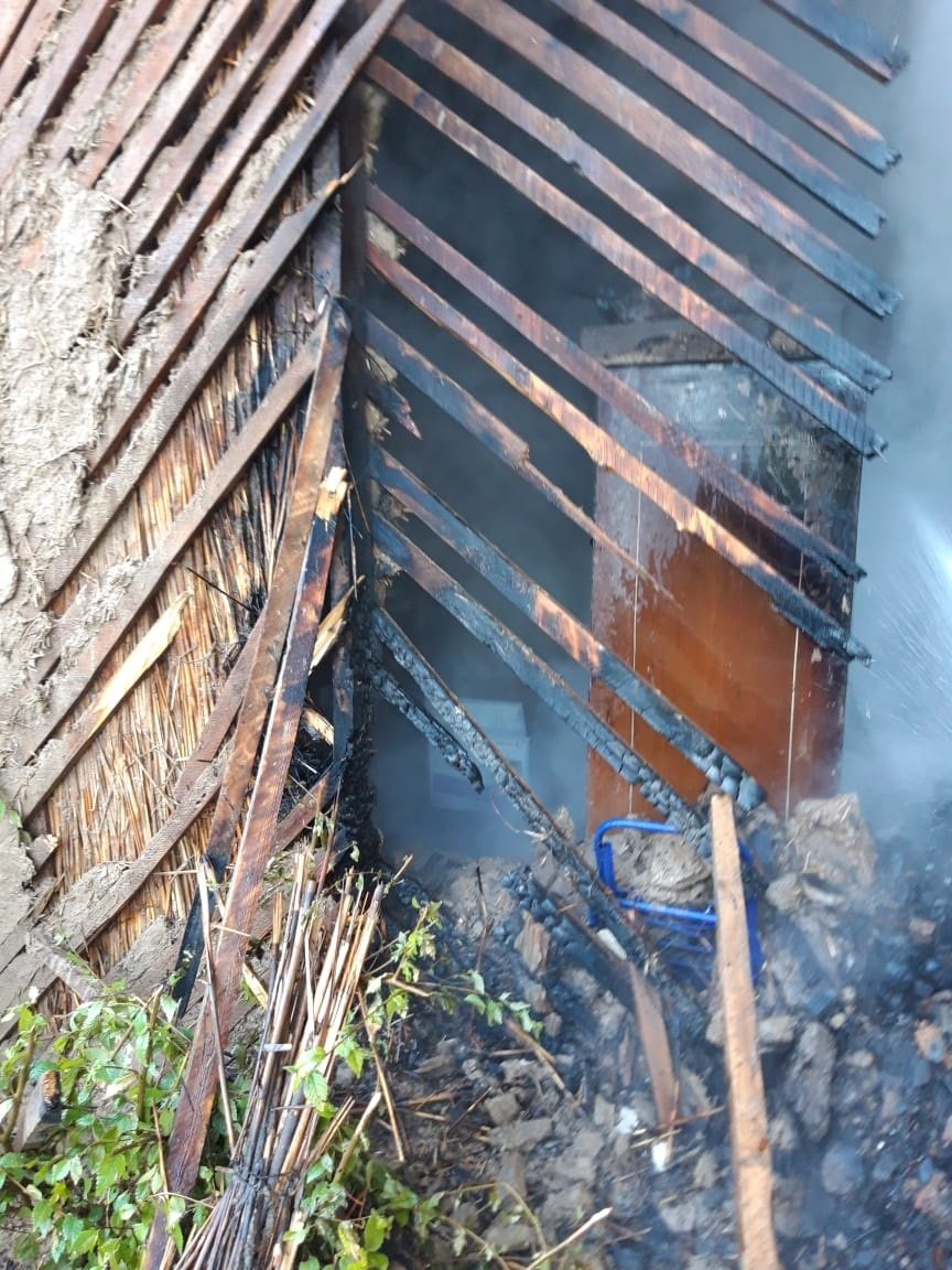 Пожар произошел в здании «Казпочты» в Алматинской области, фото-2, Фото пресс-служба КЧС МВД