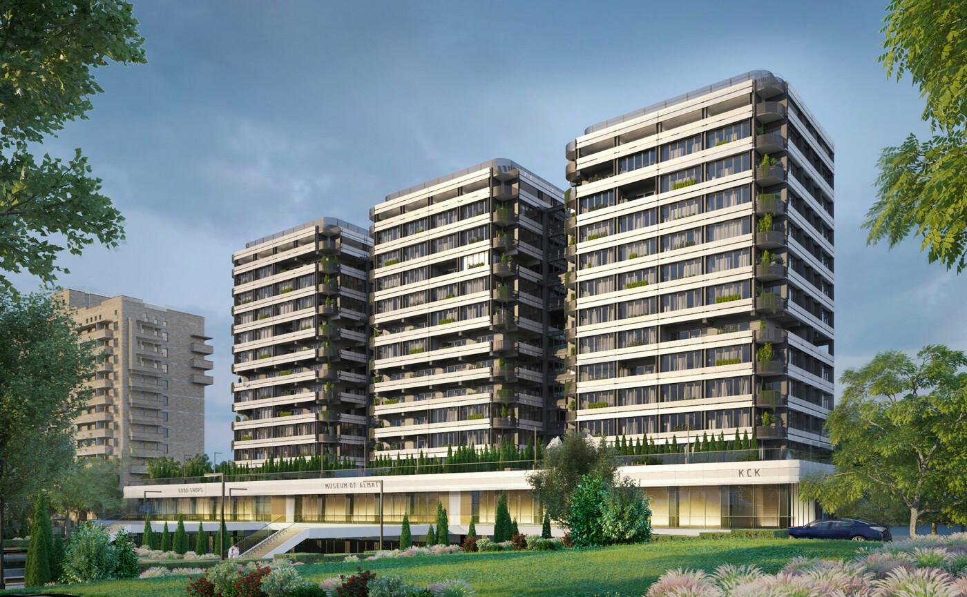 Лучший проект фасада «Трех богатырей» выбрали в Алматы, фото-1, Эскиз Ерлана Муратбека