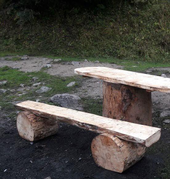 В Иле-Алатауском парке установили новые беседки и лавочки из экоматериалов, фото-3