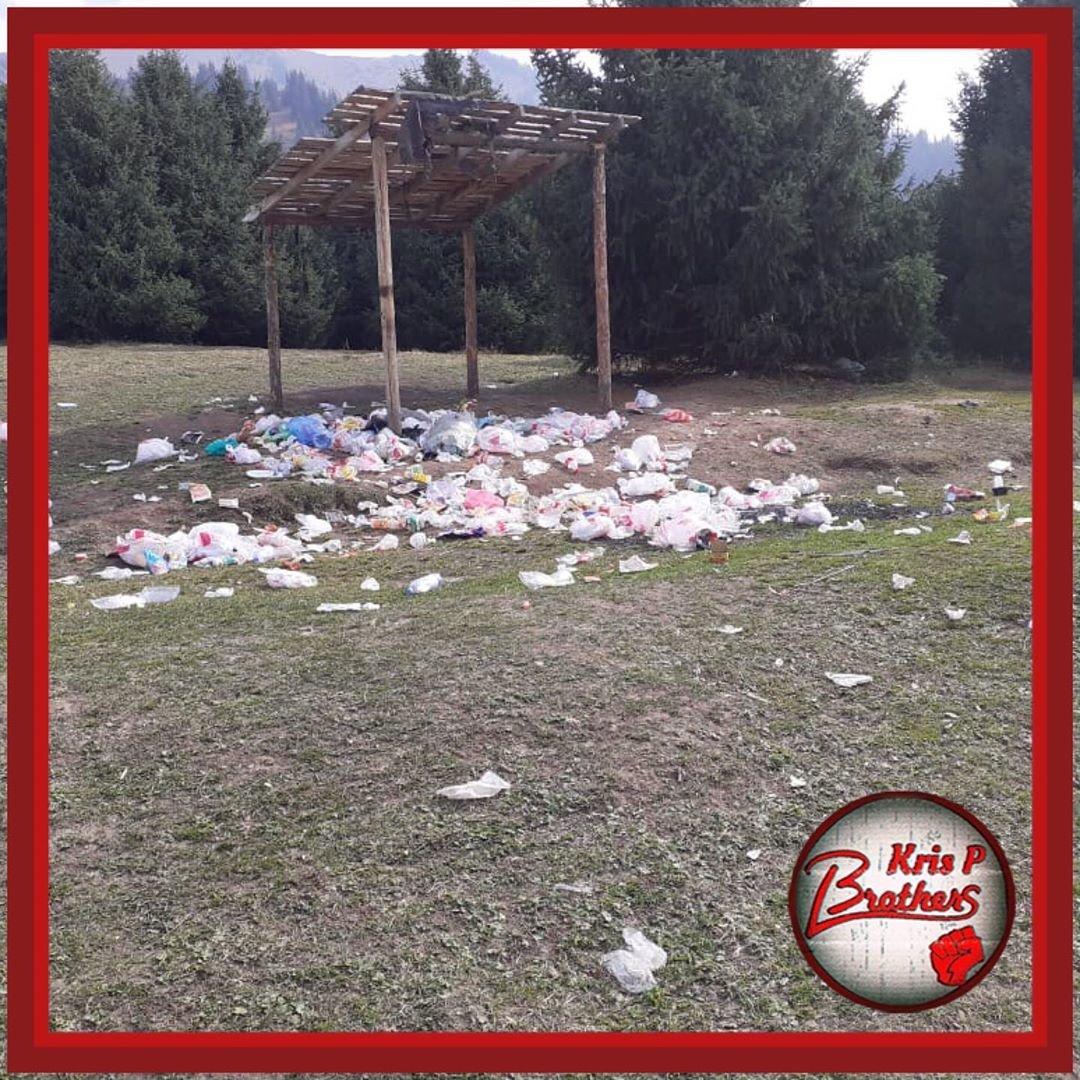 Горы мусора оставили отдыхающие в Кок-Жайляу - урочище привели в порядок, фото-1