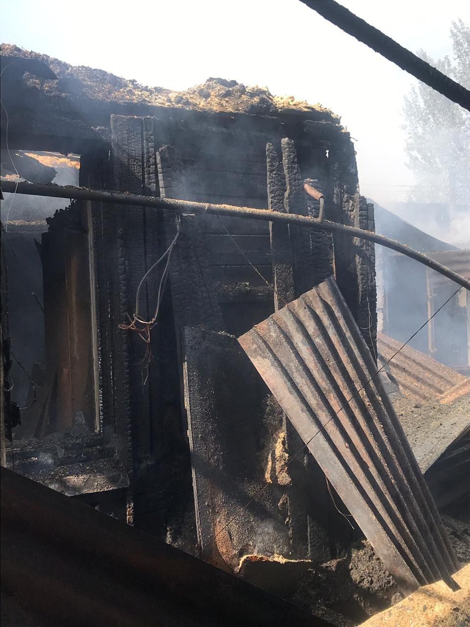 Два частных дома горели в Алмалинском раойоне Алматы, фото-1, Фото пресс-службы ДЧС Алматы