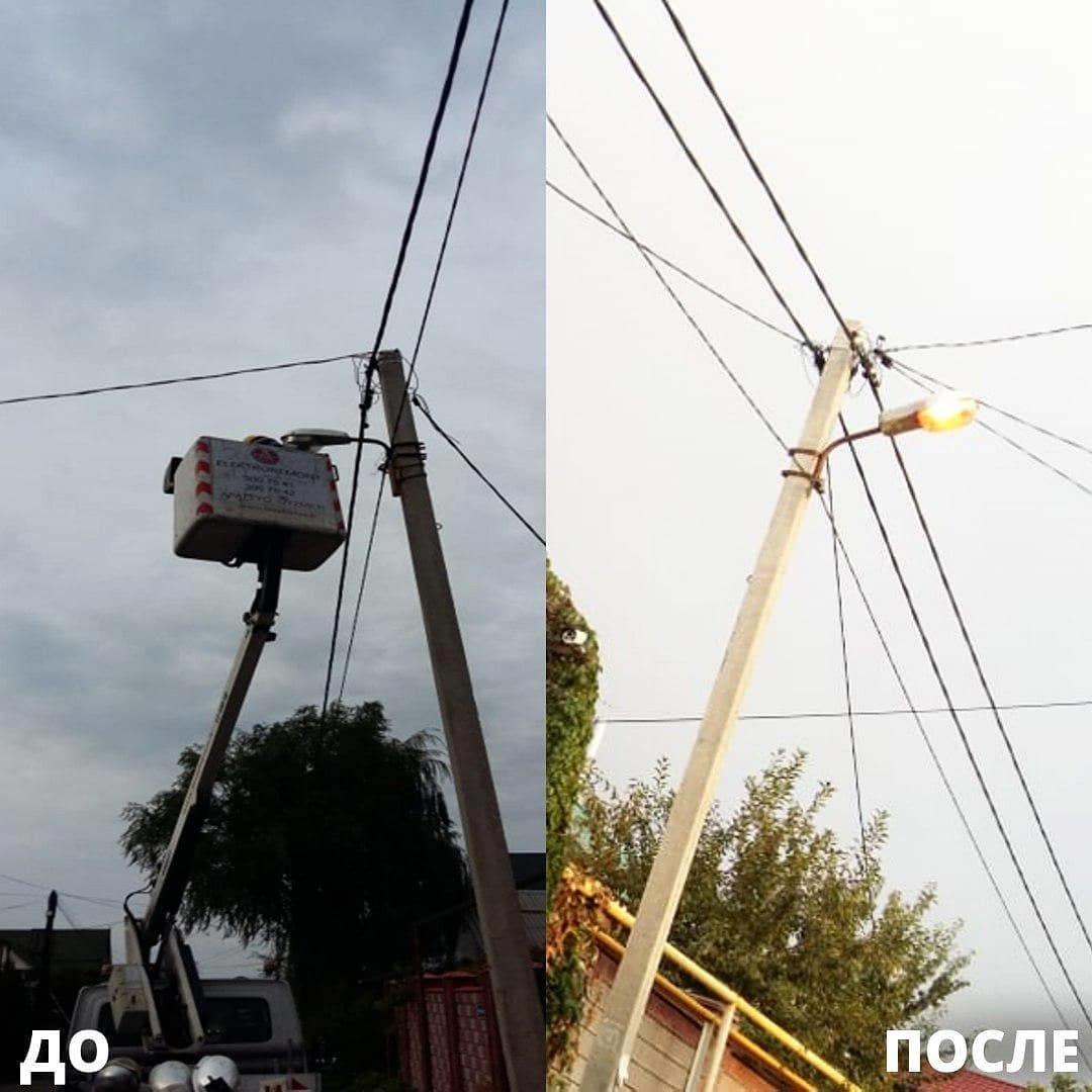 Неработающие фонари заменили в Алматы, фото-2