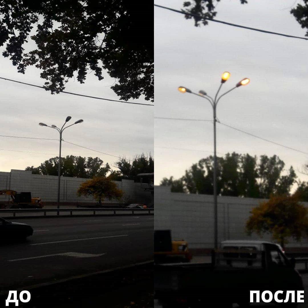 Неработающие фонари заменили в Алматы, фото-1