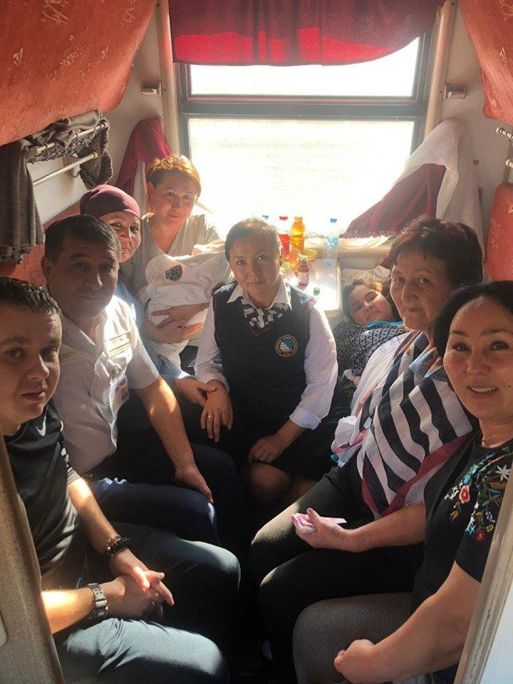 Женщина родила в поезде сообщением «Актобе - Алматы-1», фото-1