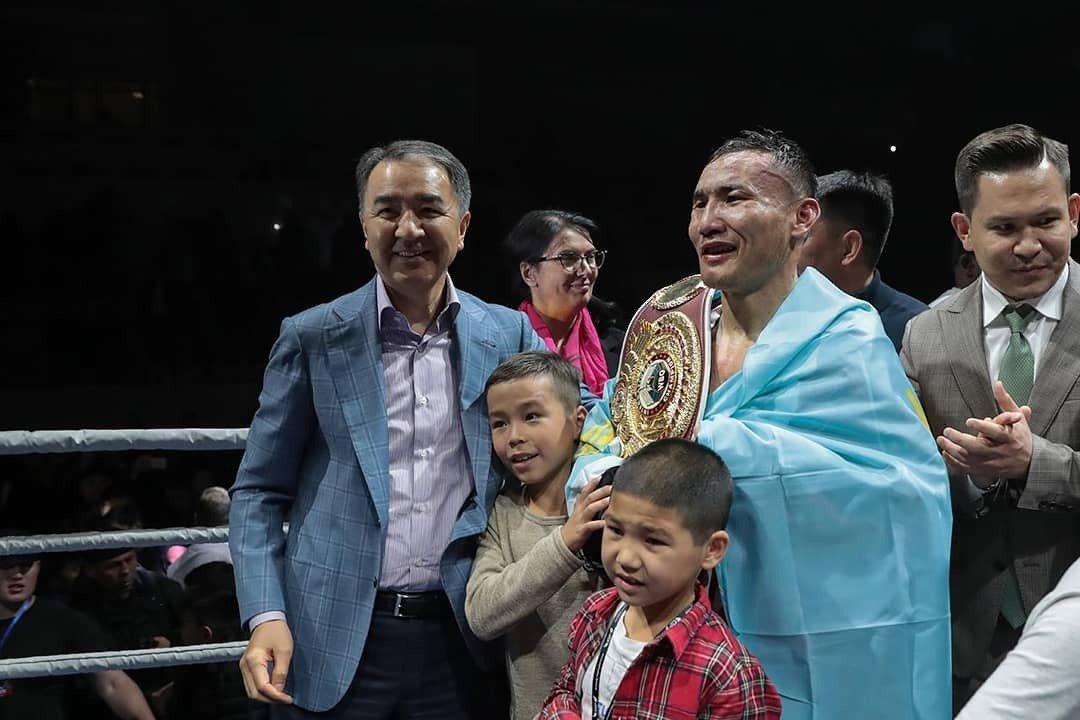 Аким Алматы поздравил Каната Ислама с победой в бою за титул чемпиона WBO, фото-2