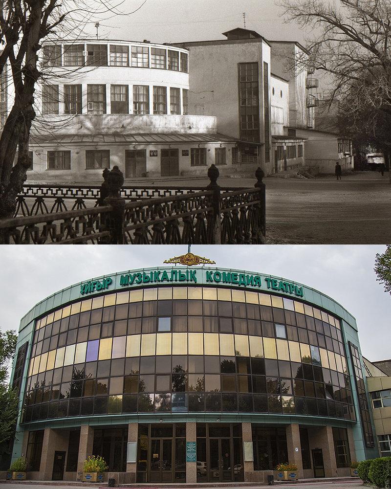 Исторические здания советской Алма-Аты, потерявшие свой облик, фото-6