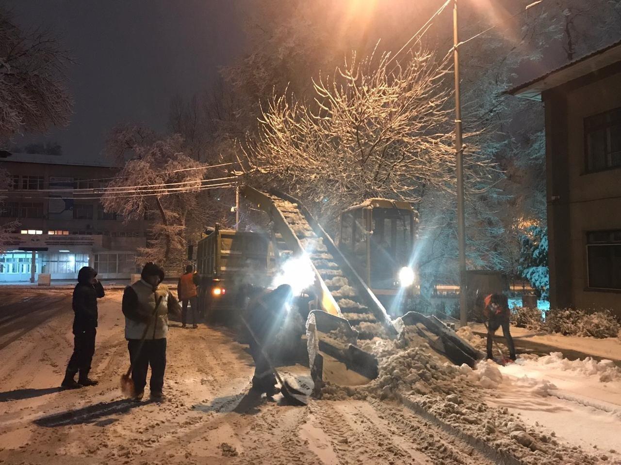 До 25 сантиметров снега выпало в Алматы за ночь, фото-1