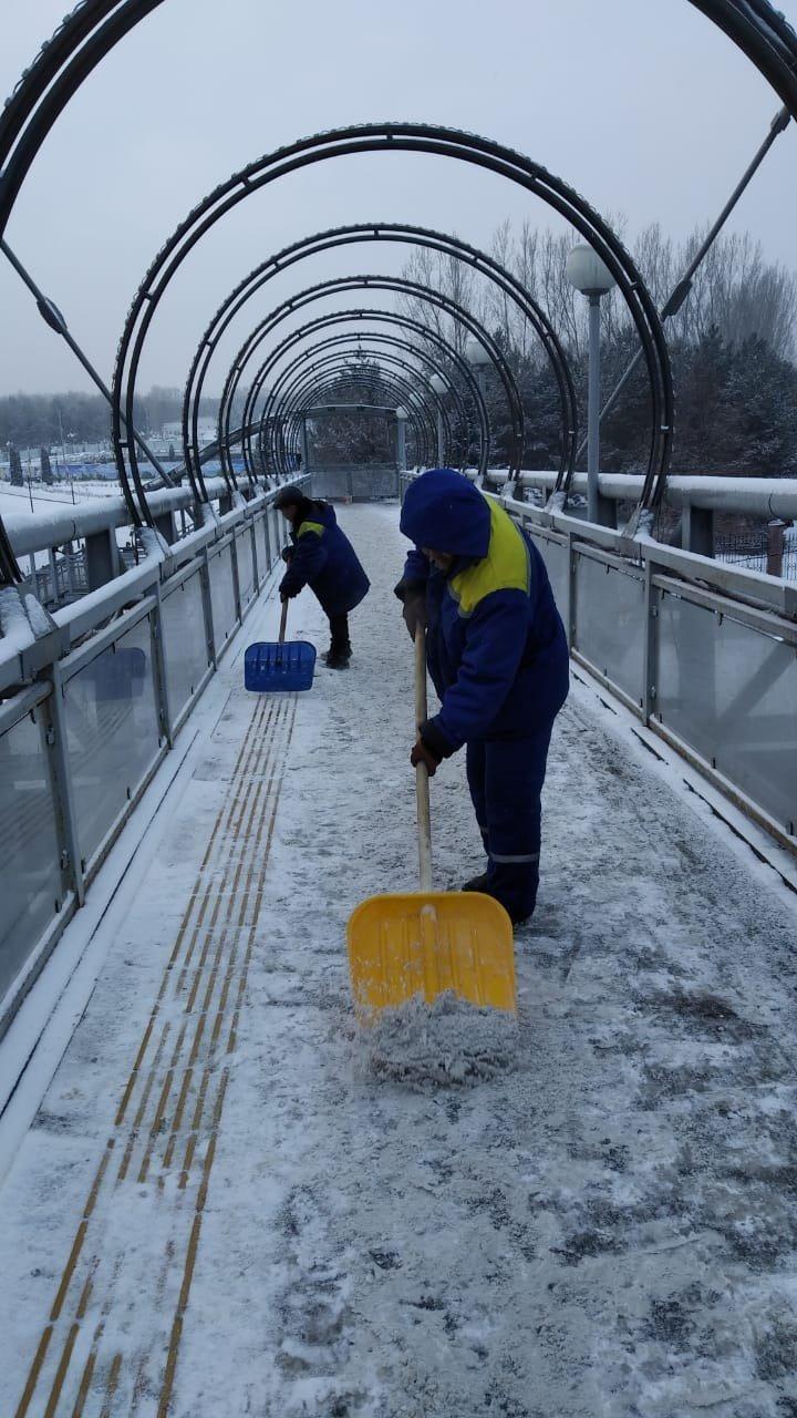 В Алматы выпало до семи сантиметров снега