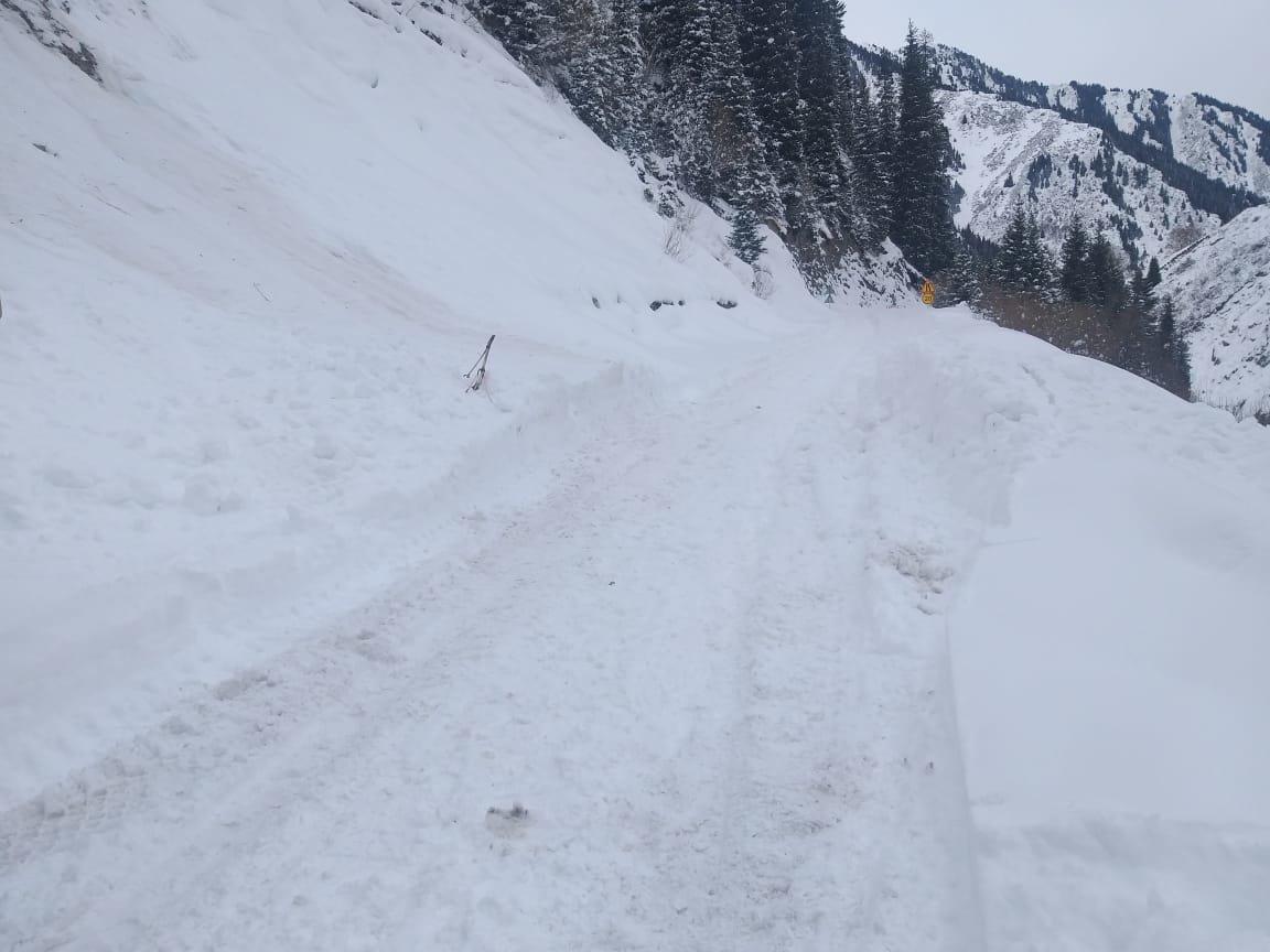Снежная лавина сошла в горах близ Алматы