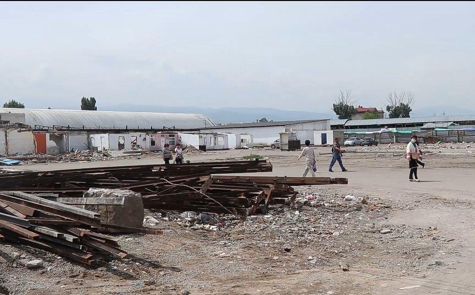 Новые павильоны строят на рынке «Алтын Орда» , фото-1