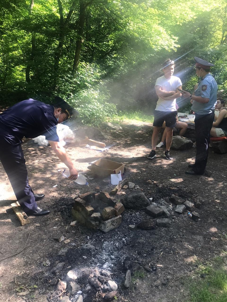 В Алматы троих мужчин наказали за разведение костра в природном парке, фото-2