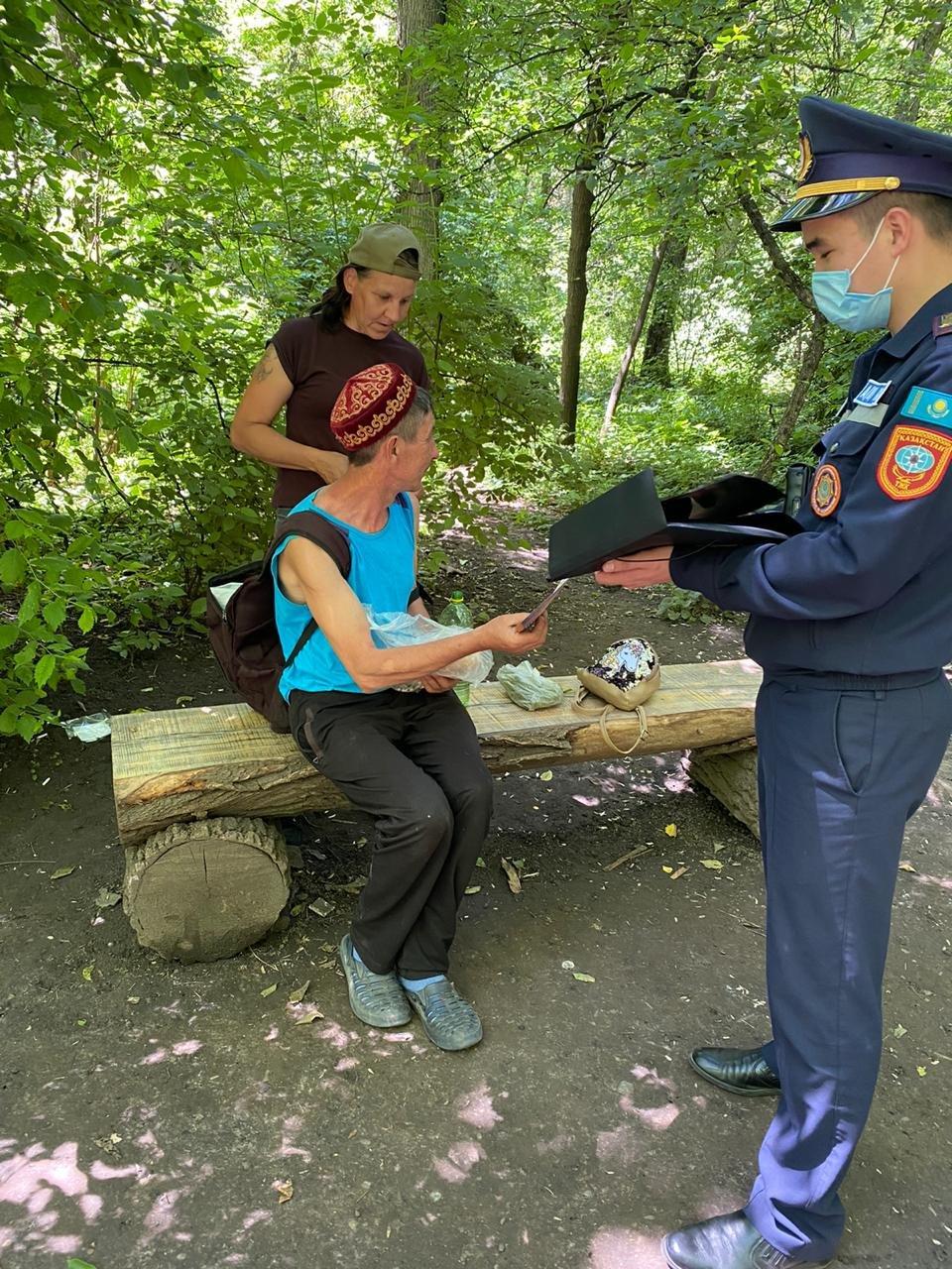 В Алматы троих мужчин наказали за разведение костра в природном парке, фото-1