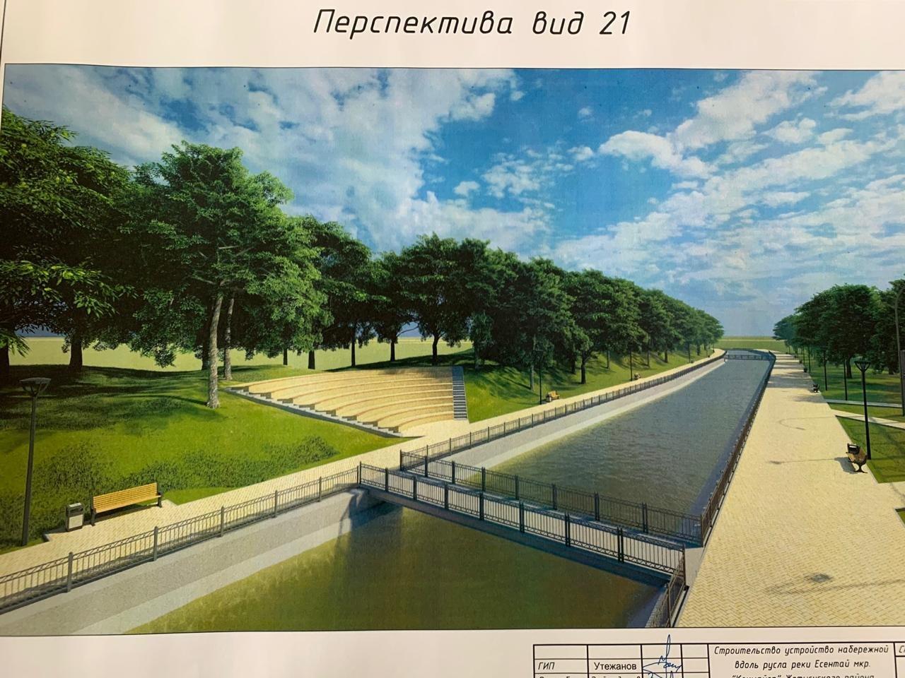 В Жетысуском районе Алматы планируют построить парковую зону вдоль набережной реки Есентай, фото-7