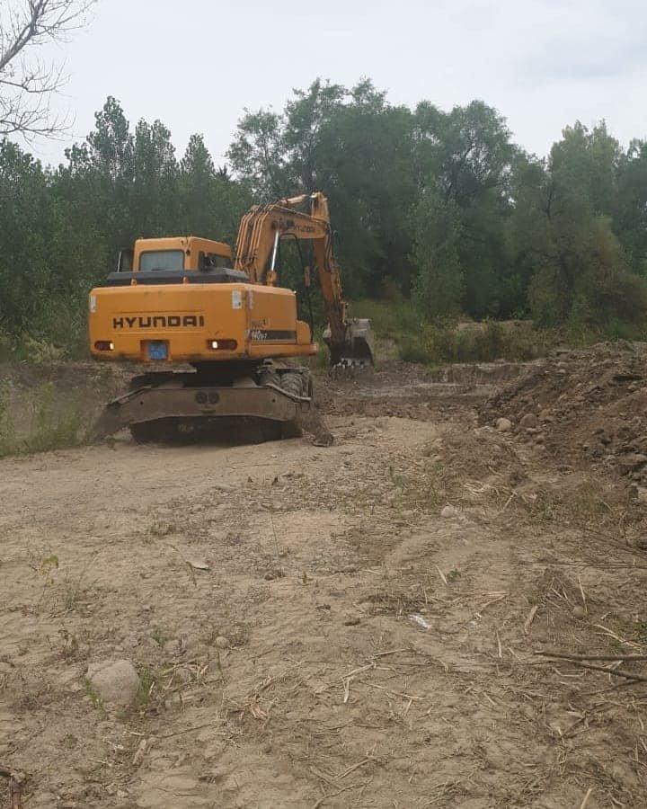 В Турксибском районе Алматы проводят реконструкцию русла реки Жарбулак, фото-1